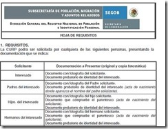requisitos tramitar curp en oficinas gratis 2014 2015 2016