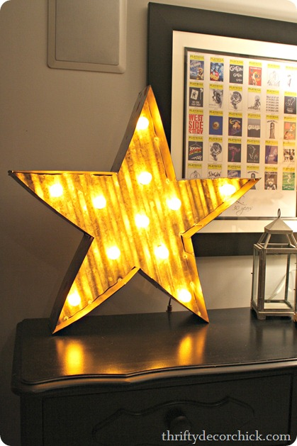 metal light up star