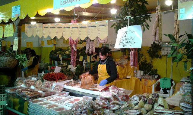 mangiare, mercado, roma, itália,