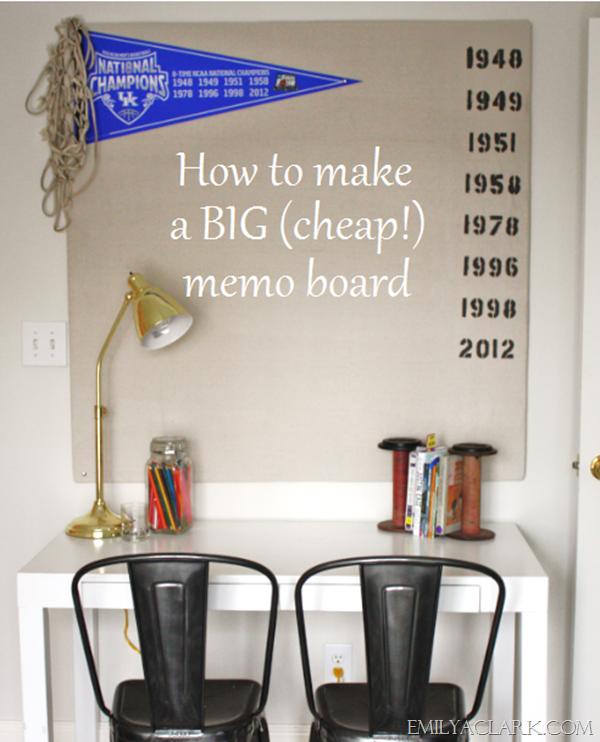 A Big Cheap Diy Memo Board Emily A Clark