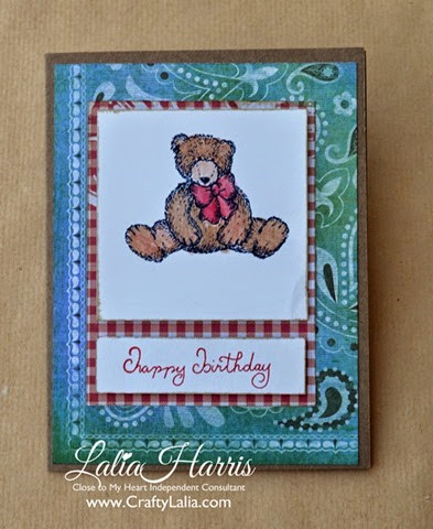card jubilee teddybear birthday