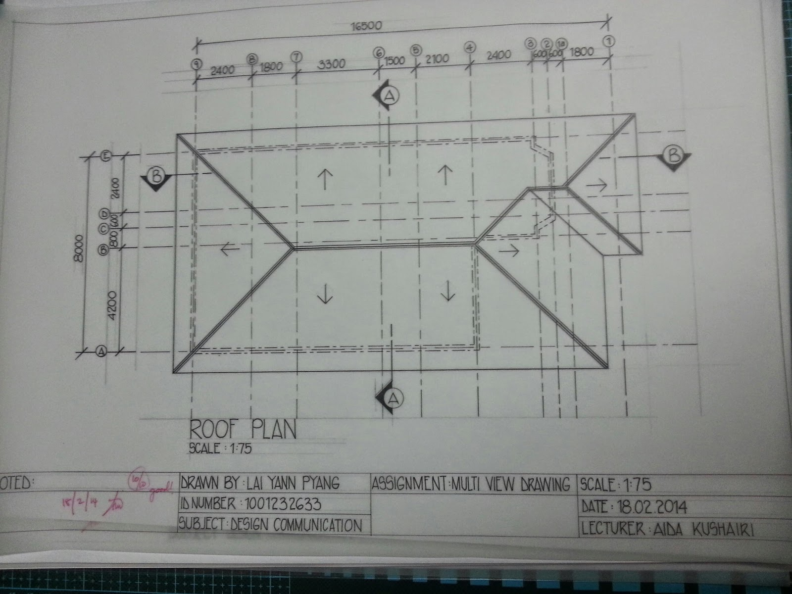 Roof plan for Roof plan drawing