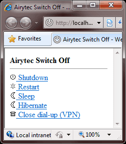 airytec web interface