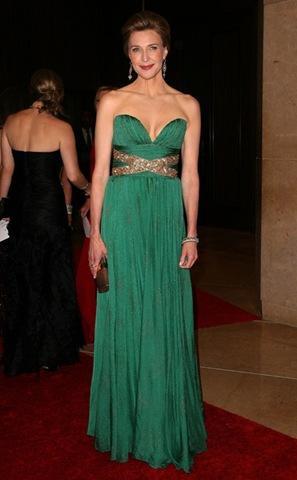 Vestido verde esmeralda de gala