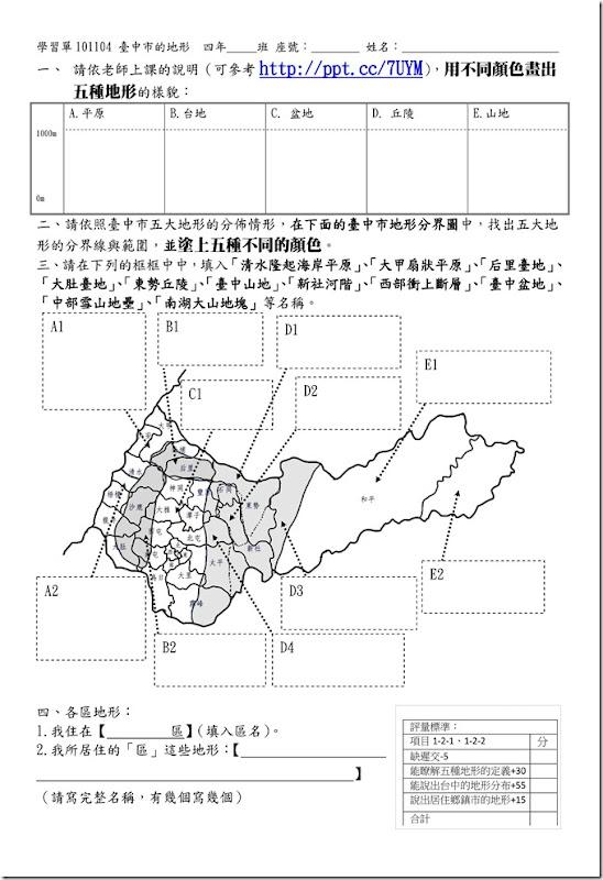 學習單101104臺中市的地形_01