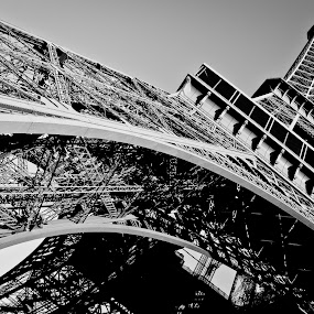 the Eiffel Tower by Desiree DeLeeuw - Buildings & Architecture Statues & Monuments ( eiffel tower, paris, architecture, structures )