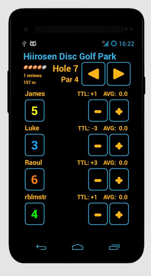 Disc Caddy 2 - Disc Golf app - screenshot