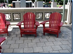 6572 Ottawa Elgin St - Summer Getaways on display at the outdoor terrace beside the National Arts Centre