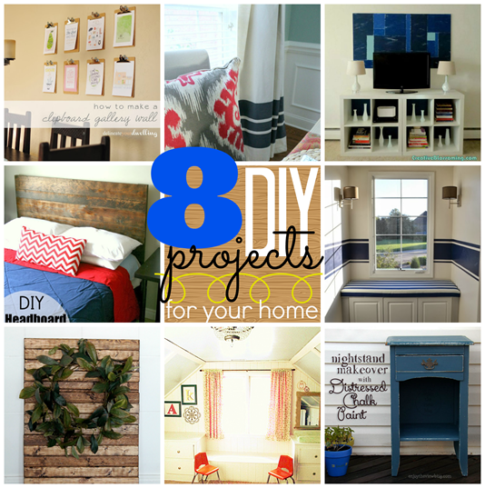 8 DIY Projects for your Home at GingerSnapCrafts.com #linkparty #features #gingersnapcrafts