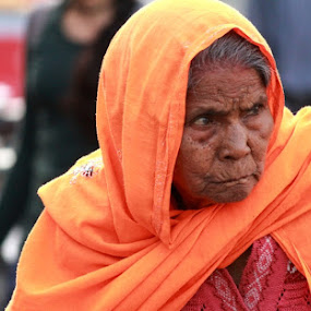 Age by Piyush R. Sharma - People Portraits of Women ( wrinkles, face, people, portrait, world, aged, street photography, Travel, People, Lifestyle, Culture,  )