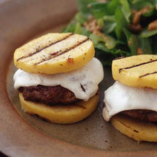 """Grilled Mushroom """"Burgers"""" on Polenta """"Buns"""""""