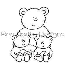 Bee Crafty - bear family