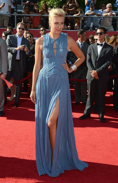 Maria Sharapova arrives at the 2012 ESPY Awards