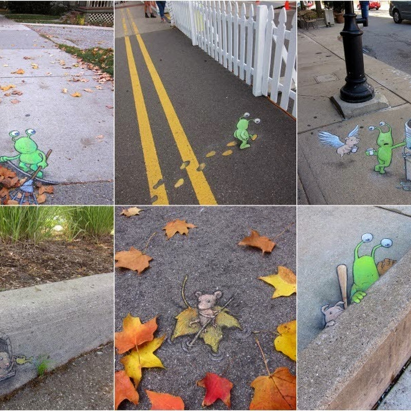 Adorable Street Art by David Zinn