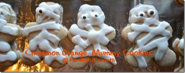 cinnamon orange mummy cookies