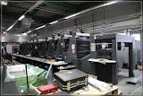 eine neue Druckmaschine ist im Bau