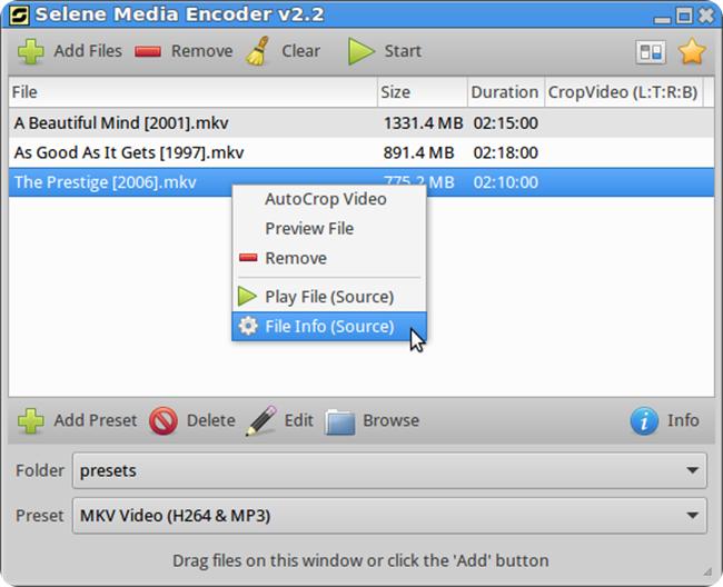 convert audio    video files with selene media encoder