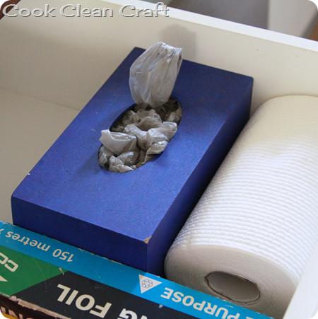 Tissue box cover as Plastic Bag Holder1