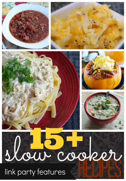 15  Slow Cooker Recipes #linkparty #features #recipe