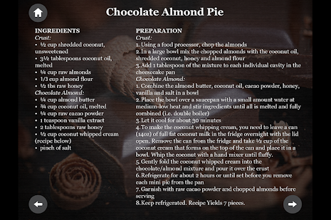 Paleo Diet Chocolate recipes- screenshot thumbnail