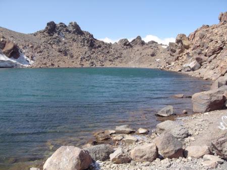 Imagini Iran Sabalan lacul de crater din varful Sabalan