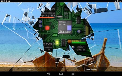 Cracked Screen Gyro 3D Parallax Wallpaper HD 1.0.5 screenshots 9