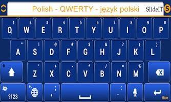 Screenshot of SlideIT Polish QWERTY Pack