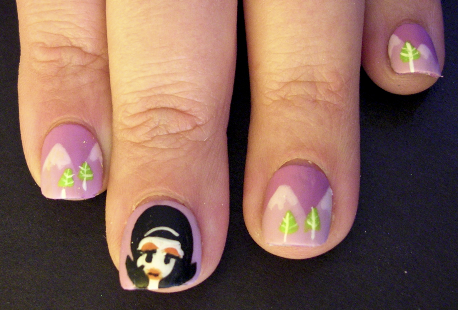 ecklipsed by color: Lowbrow Nail Art: Inspired by Shag\'s \