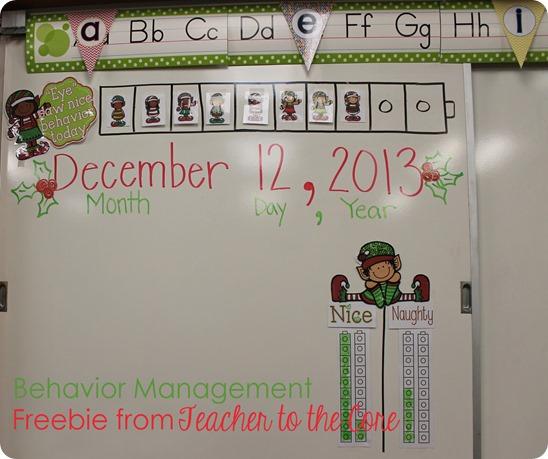 Behavior Management Freebie