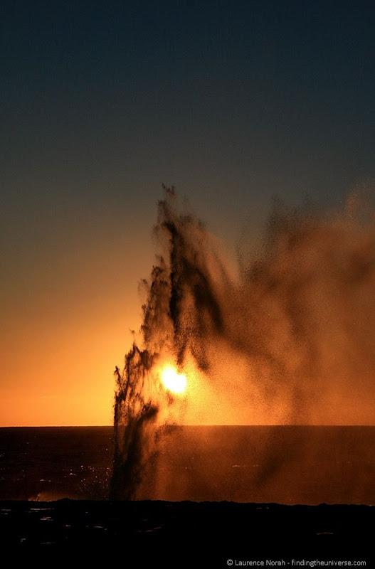 sunset blowhole