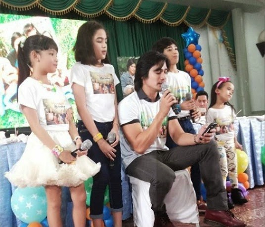Xyriel Manabat, Andrea Brillantes, Piolo Pascual, Zaijian Jaranilla, and Yesha Camile at the Hawak Kamay Family Day