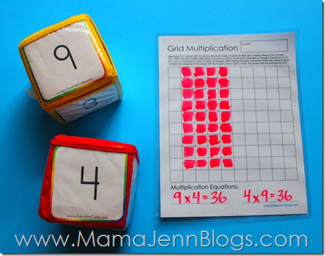 Grid Multiplication: Free Printable Math Game