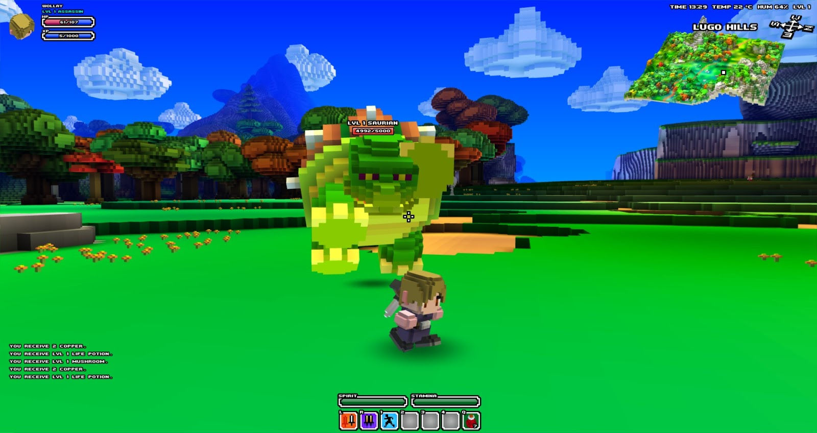 Cube World Map.Indie Retro News Cubeworld Voxel Based Exploration Rpg