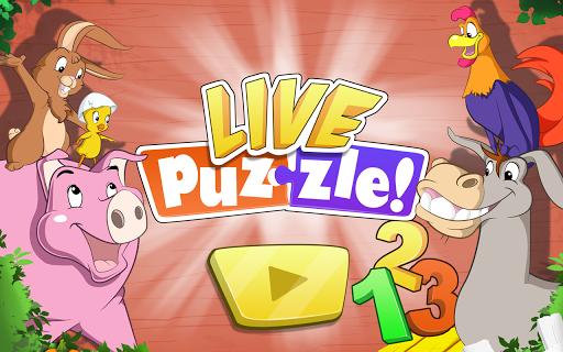 Live Puzzle Farm Numbers kids