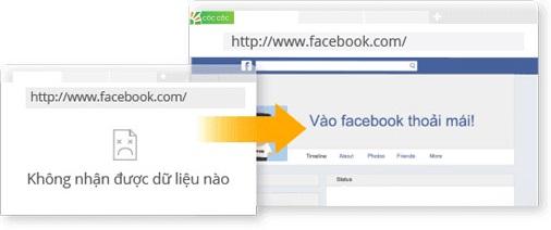 Cách vào facebook bằng Cốc Cốc