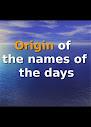 Origem dos nomes dos dias