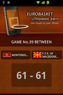 Eurobasket 2011 Live Results- screenshot thumbnail
