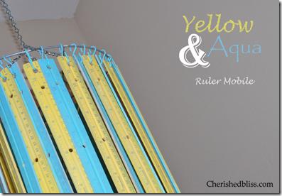 Ruler Mobile Yellow Aqua