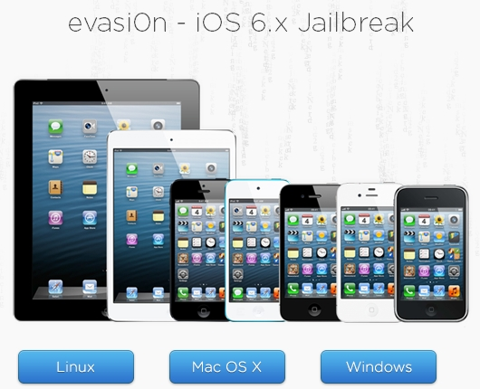 how to jailbreak 6.x untethered on iPhone 3GS/ 4/4S/5, iPad 1/2/3/4, iPad Mini, iPod Touch 3G/4G/5G using the evasi0n jailbreak tool