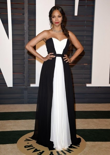 Zoe-Saldana-2015 Vanity Fair Oscar Party