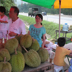 After lunch, we head to Bentong, and on the way, we come across this durian stall