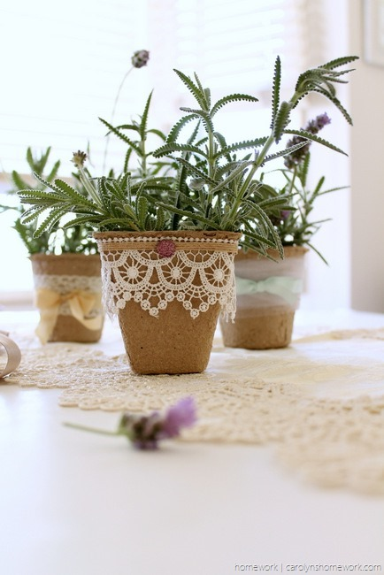Embellished Peat Pot Table Favors - homework (4)