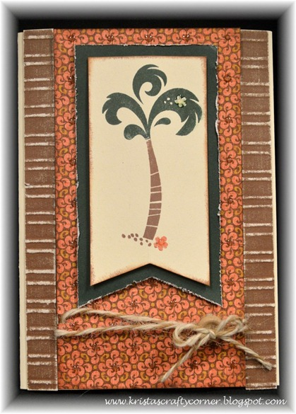 Surf's Up card_palm tree