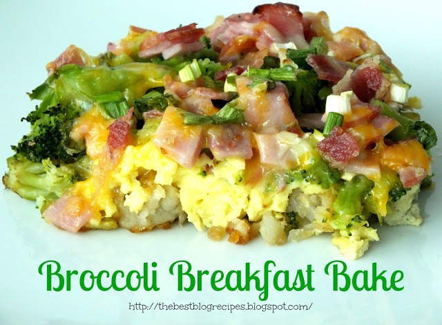 Broccoli Breakfast Bake recipe from {The Best Blog Recipes} (1)