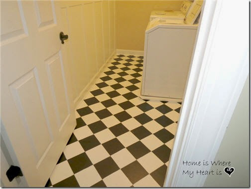 painted vinyl floors