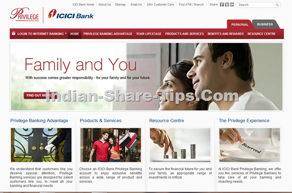 ICICI BANK NEW WEBSITE INTERFACE