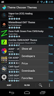 Theme Chooser Themes - screenshot thumbnail