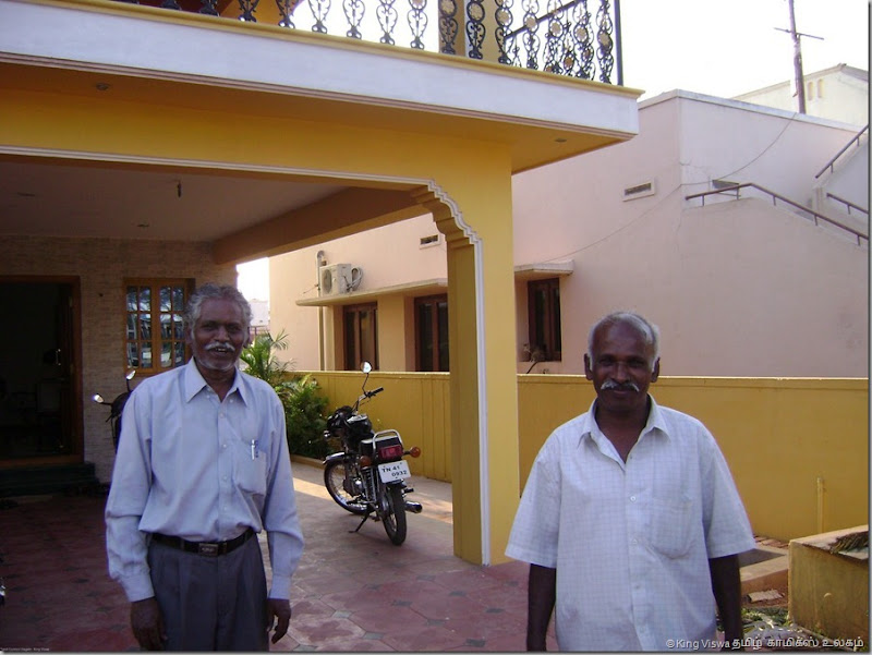 Vidiyal Pathippagam Siva Sir With Yazh Noolagam Durai Sir in Siva Sir's Home in Coimbatore