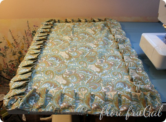 Pin Pleat Strip to Pillow Front