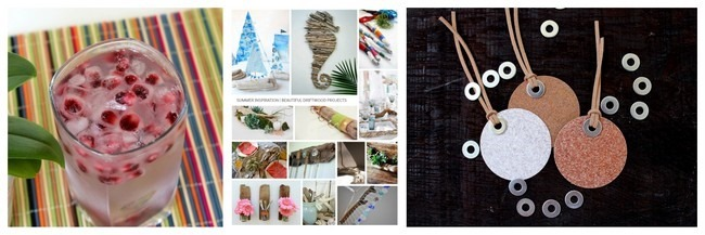 Pomegranate Mini Ice, driftwood roundup, Sandpaper Gift Tags via homework